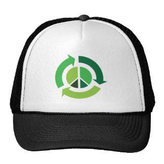 Eco que recicla el símbolo de paz - ecología gorros