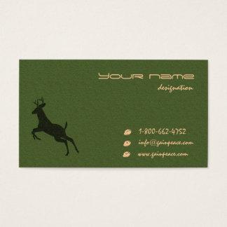 eco temático tarjeta de negocios