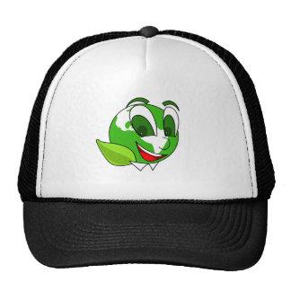 Eco-Tierra verde sonriente Gorra