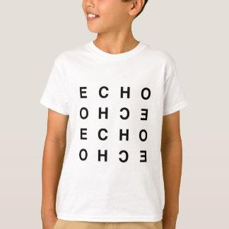 eco tipográfico limpio mínimo camiseta