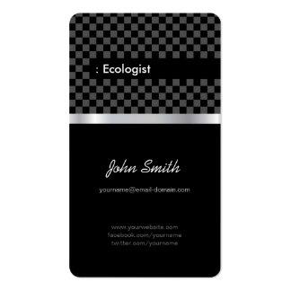 Ecologista - a cuadros negro elegante tarjetas de visita