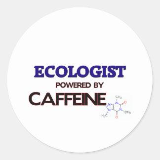 Ecologista accionado por el cafeína pegatina redonda