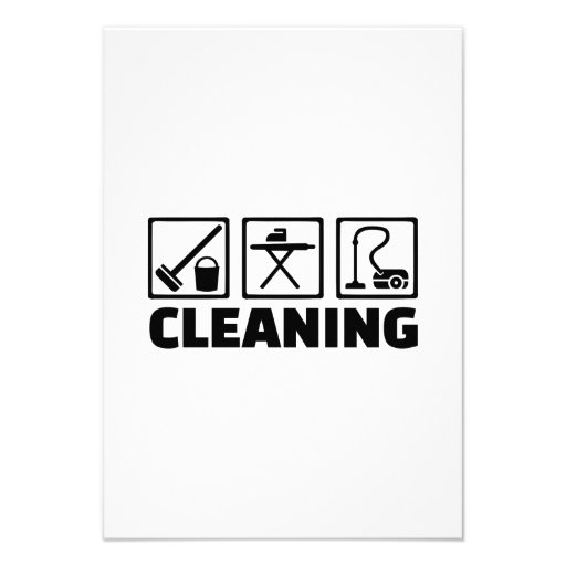 Economía doméstica de la limpieza invitaciones personalizada