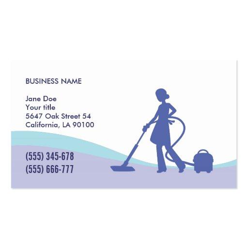 Economía doméstica y plantilla de la tarjeta de vi tarjeta de negocio