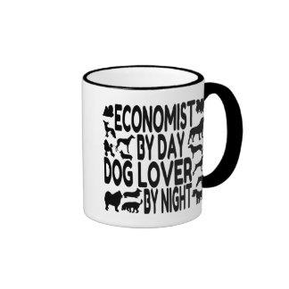 Economista del amante del perro taza a dos colores