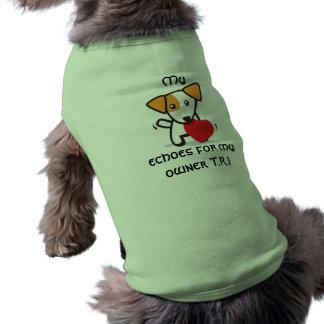 Ecos para mi camiseta del perro del dueño