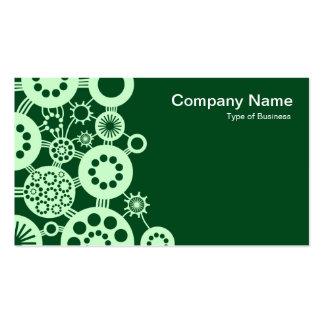 Ecosistema - verde del fantasma en 02481c verde tarjetas de visita