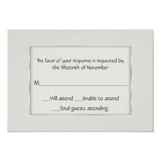 Ecru de uso múltiple y tarjeta de plata de la invitación 8,9 x 12,7 cm