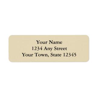 Ecru o el beige imprimió etiquetas del remite