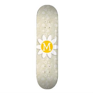 Ecru Paisley Floral Margarita Tabla De Skate