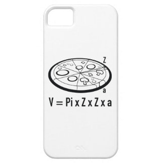 Ecuación de la pizza: V = pi x Z x Z x a Funda Para iPhone 5 Barely There