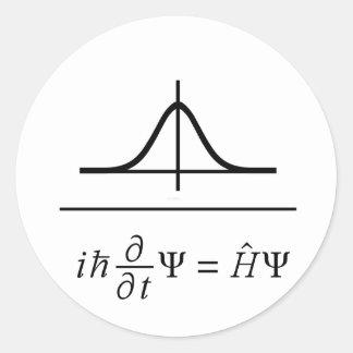 Ecuación de Schrödinger Pegatina Redonda