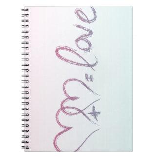 Ecuación del amor libros de apuntes con espiral