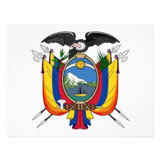Ecuador Escudo de armas Flyer A Todo Color