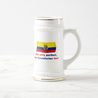 Ecuadorian perfecto jarra de cerveza