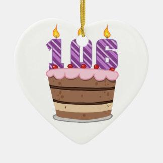 Edad 106 en la torta de cumpleaños ornato