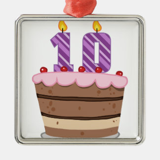 Edad 10 en la torta de cumpleaños ornamentos para reyes magos