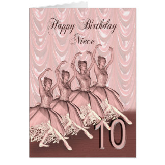 Edad 10, una tarjeta de la sobrina de cumpleaños