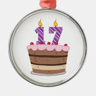 Edad 17 en la torta de cumpleaños adornos