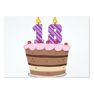 Edad 18 en la torta de cumpleaños anuncios personalizados