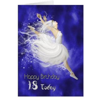 Edad 18, saltando la tarjeta de cumpleaños de la b