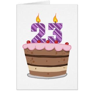 Edad 23 en la torta de cumpleaños felicitación