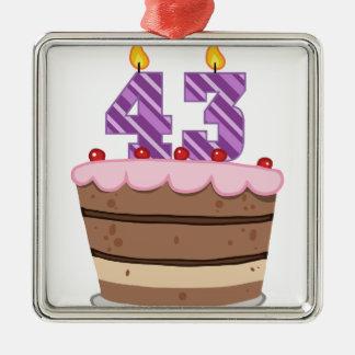 Edad 43 en la torta de cumpleaños ornamentos de reyes magos