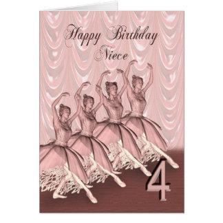 Edad 4, una tarjeta de la sobrina de cumpleaños de