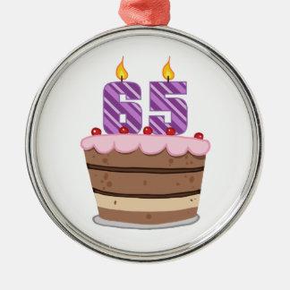 Edad 65 en la torta de cumpleaños ornamentos para reyes magos