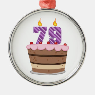 Edad 79 en la torta de cumpleaños ornamentos de reyes