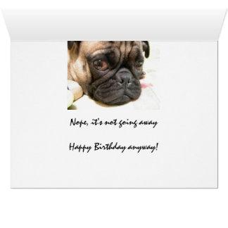 Edad avanzada no feliz humor del cumpleaños con e felicitación