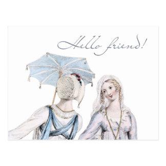 Edad de la postal del amigo de la regencia de Jane