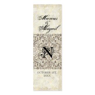 Edad de plata de la elegancia, etiqueta con tarjetas de visita mini