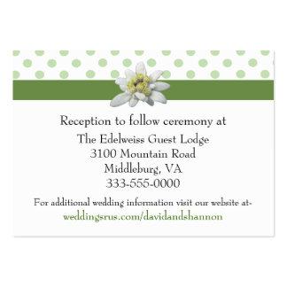 Edelwiess y lunares que casan la tarjeta del recin tarjetas de visita