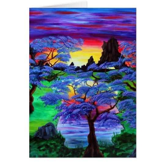 Eden violeta tarjeta de felicitación