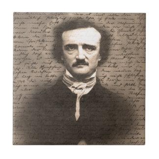 Edgar Allan Poe Azulejo Cuadrado Pequeño