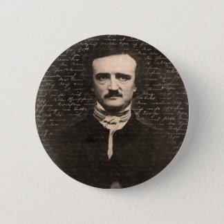 Edgar Allan Poe Chapa Redonda De 5 Cm