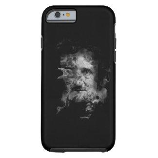 Edgar Allan Poe en humo con el cuervo Funda Resistente iPhone 6