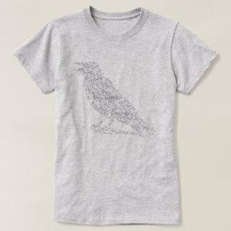 Edgar Allan Poe la camisa de la tipografía de las