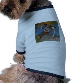 Edgar Degas - bailarín azul del Redhead del tutú d Ropa De Perro