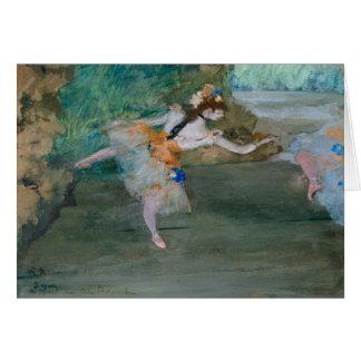 Edgar Degas - bailarín en el escenario Tarjeta
