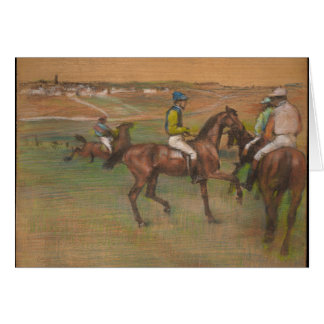 Edgar Degas - caballos de raza Tarjeta