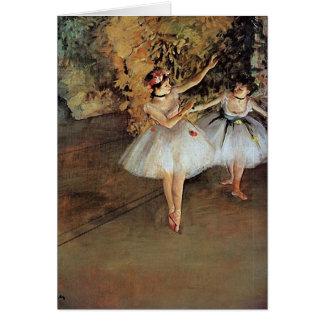 Edgar Degas - dos bailarines Tarjeta