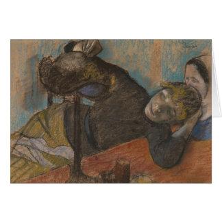 Edgar Degas - el sombrerero Tarjeta