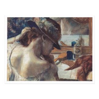 Edgar Degas - en el bailarín de papel del pastel Postal