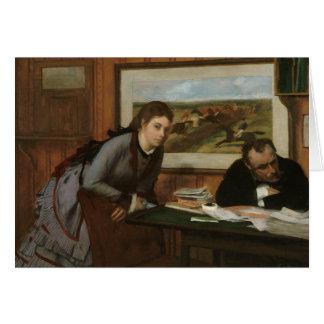 Edgar Degas - enfurruñándose Tarjeta