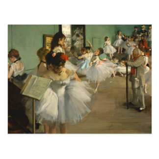 Edgar Degas la clase de danza Postal