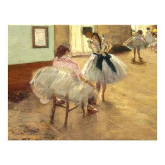 Edgar Degas la lección de danza Folleto 21,6 X 28 Cm