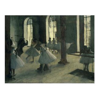 Edgar Degas - La Répétition au foyer de la danse Postal