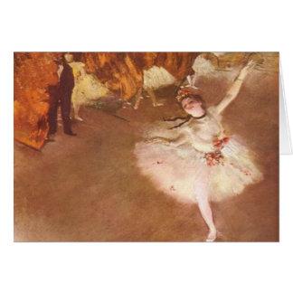 Edgar Degas la tarjeta de felicitación de la